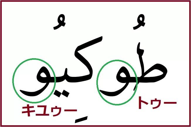 アラビア語「東京」の長母音説明