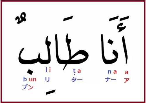 アラビア語「私は学生です」の発音説明