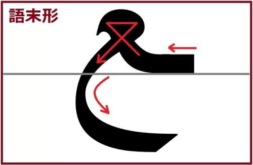 アイン語末形線あり