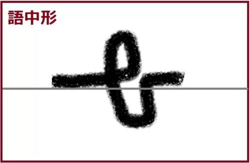 ハー語中形手書き