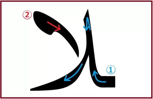 ラームアリフ(前に文字が繋がるタイプ)