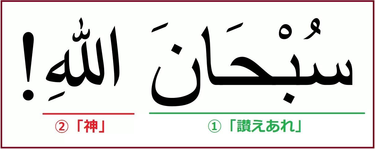アラビア語で「素晴らしい」を意味する「スブハーナッラー」解説付き