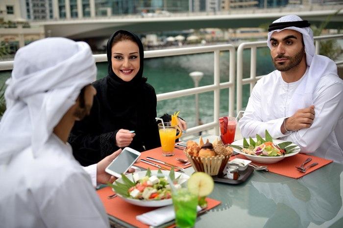 アラブ人の食事風景