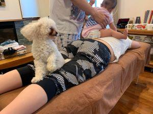 赤ちゃんもペットもいて癒される小牧市の出張パーソナルトレーニング !