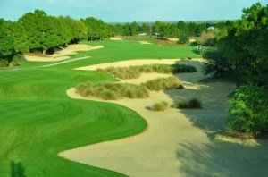 The Southern Dunes Golf & Country Club is located south of Orlando in Haines City.  It is one of Florida's top public golf courses.  Sporting 5 sets of tees, each one offers its challenges.This is the par 4 17th, 421 yards from the back tees.