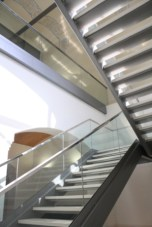 The new metal stair