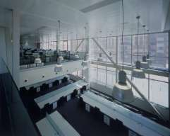 Double space at INTECO, glass railing
