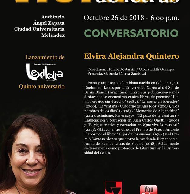 Viernes de Letras con Elvira Alejandra Quintero