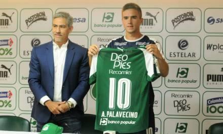 Agustín Palavecino fue presentado como nuevo jugador del Deportivo Cali