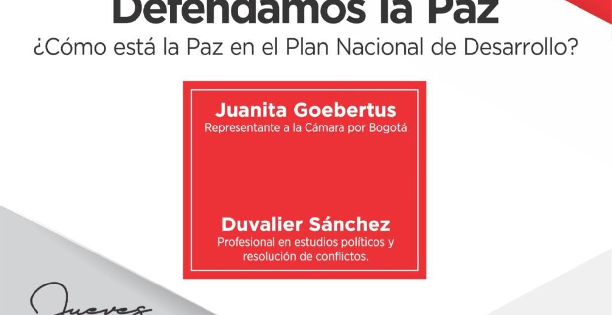 Conversatorio Defendamos la Paz: Juanita Goebertus, Univalle