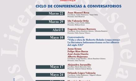 9a. Temporada de Viernes de Letras de la Escuela de Estudios Literarios de la Universidad del Valle