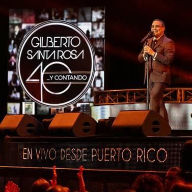 GILBERTO SANTA ROSA  El Caballero De La Salsa  resume su trayectoria artística en esta pieza de colección  40…Y Contando En Vivo Desde Puerto Rico