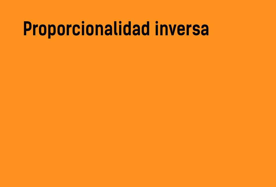 Proporcionalidad inversa | Teoría y ejemplos