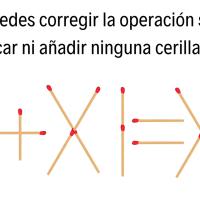 5 retos matemáticos con palillos ¿Serás capaz de resolverlos? ¡Anímate!