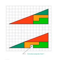 La paradoja del cuadrado perdido que arrasa en redes. ¿Cómo es posible?