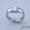 Contemporary Diamond Engagement Ring 1