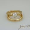 Impressive Gold Natural Texture Diamond Ring 1