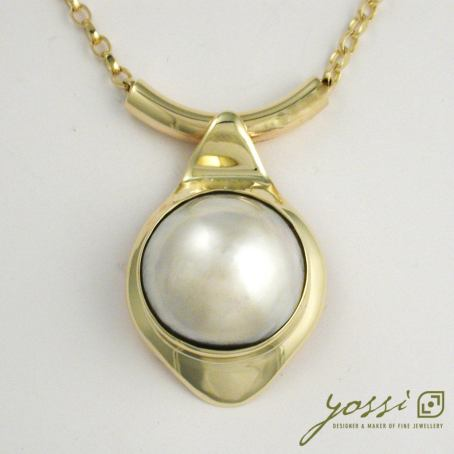 Magnificent Pearl Pendant   9ct Gold 3