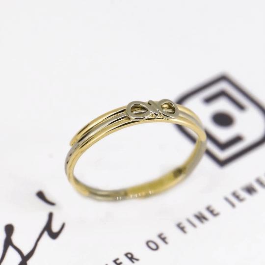 Infinity Friendship Ring | 18ct Yellow, White & Rose Gold 8