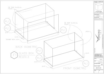 Shop Drawing for Suspended Display Case