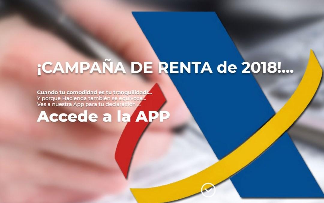 CAMPAÑA DE LA RENTA DE 2018