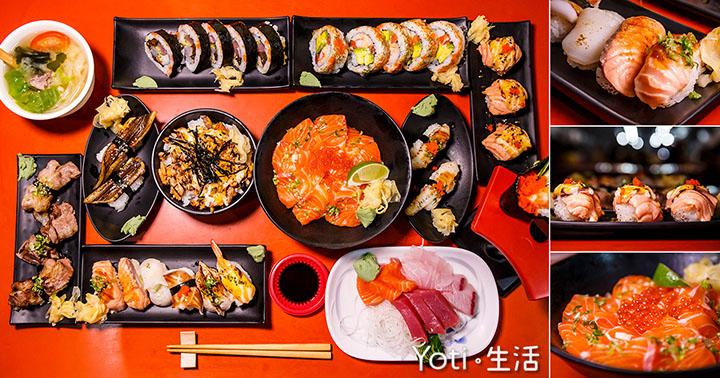 [花蓮東大門夜市] 青田壽司 | 用料新鮮價格實惠, 超推薦鮭魚系列日本料理!(試吃邀約)