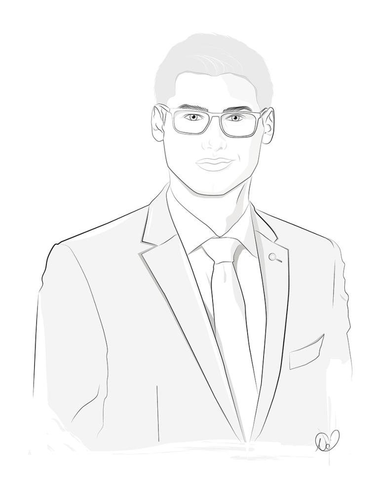 Business Portrait Illustration Christoph Felde