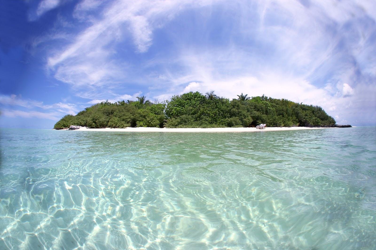 Maldives, Indian Ocean.  Island & Beach