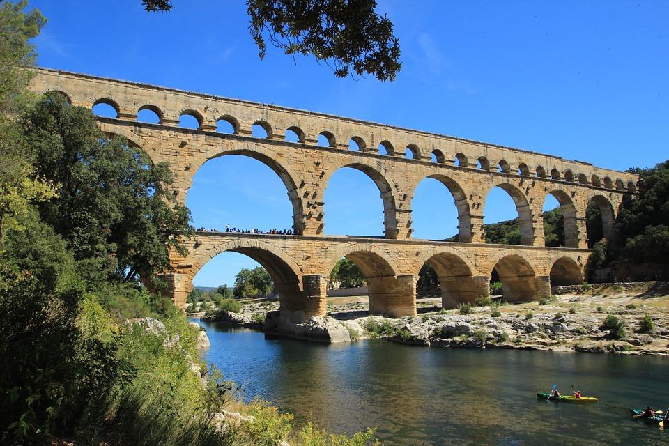 Pont du Gard, Gardon River, Remoulins, France