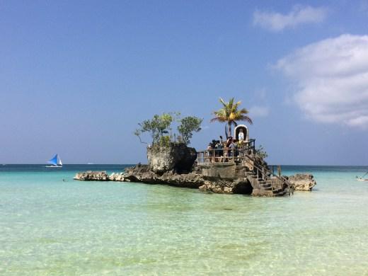 Willys Rock, White Beach, Boracay, Philippines