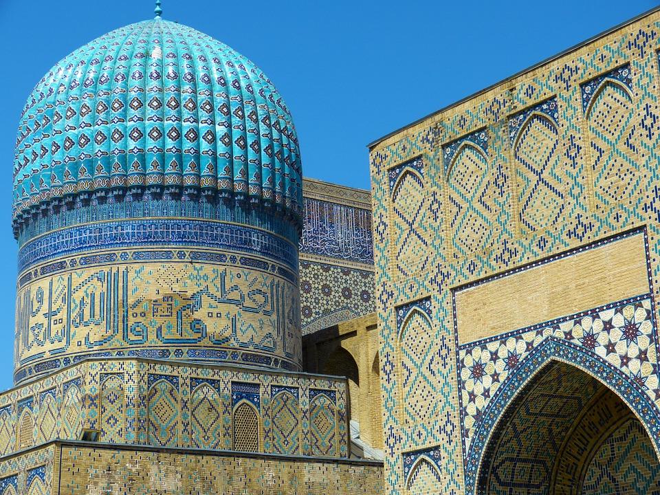 Bibi-Khanym Mosque, Samarkand, Uzbekistan.