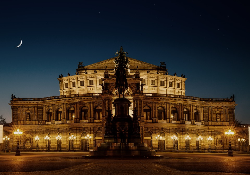 The Semperoper in the centre of Dresden, Germany.