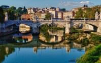 Ponte Sant'Angelo is a Roman bridge in Rome, Italy