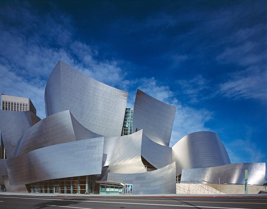 Walt Disney Concert Hall, Downtown of Los Angeles, California, USA