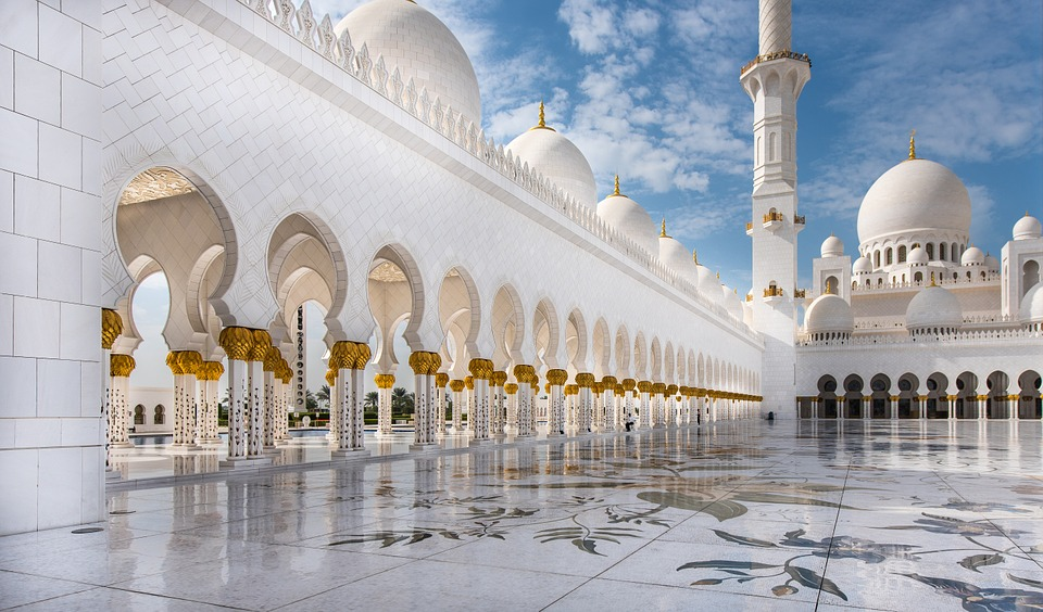 Sheikh Zayed Grand Mosque is located in Abu Dhabi, United Arab Emirates
