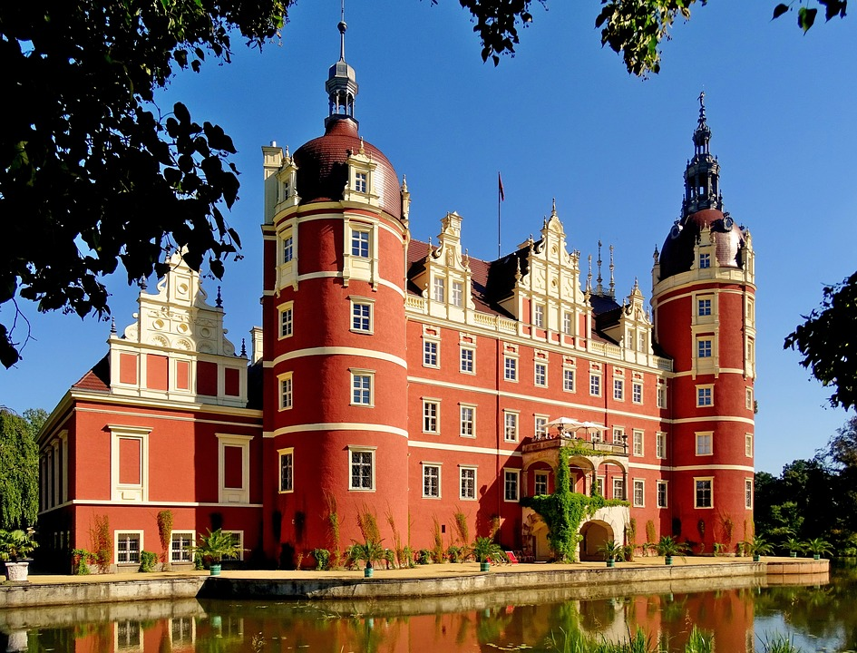 Muskau Palace, Görlitz district in Saxony, Germany