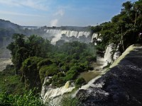The Iguazu Falls, between Argentina and Brazil.