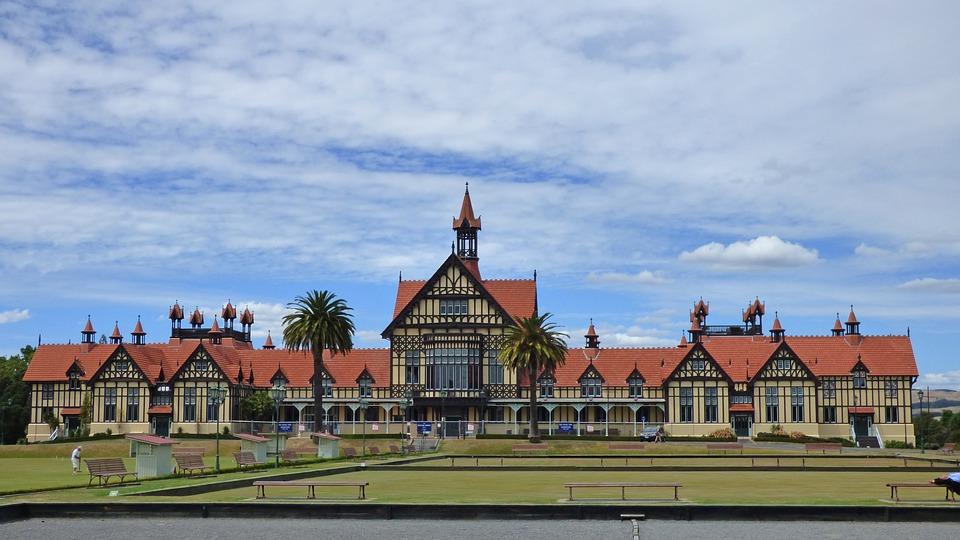The Rotorua Museum in Rotorua, North Island, New Zealand