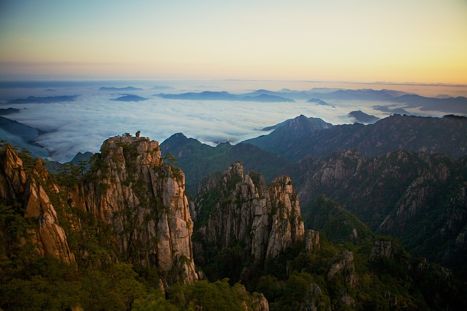 Yellow Mountain, Anhui province in eastern China.