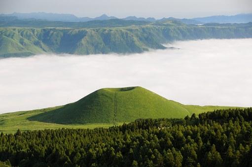 Mount Aso, Kyushu, Japan
