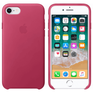 Iphone 7/8 Leather Pink Back/Front Case