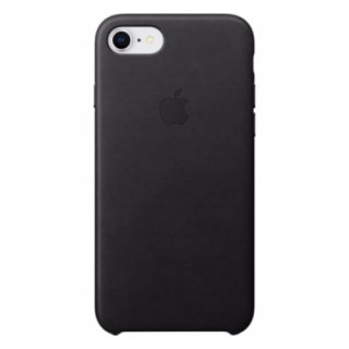Iphone 7/8 Leather Black Back Case