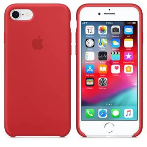 Apple Siliconen Back Cover voor iPhone 7/8 – Rood