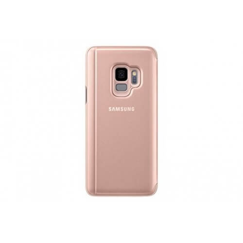 S9 Clear View Pink Back Case