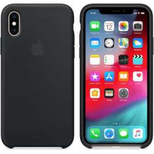 Apple iPhone X/Xs Silicone Back Cover Zwart