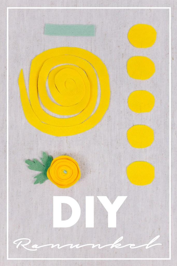 DIY Stoffblumen selber machen - Ranukel aus Filz