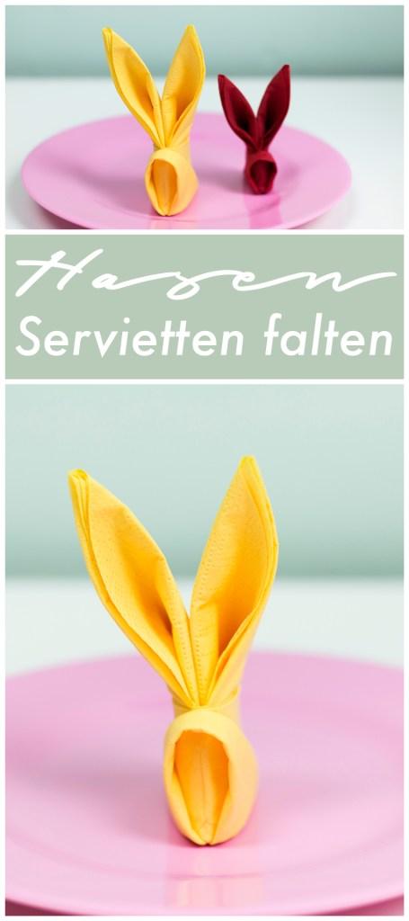 Oster DIY - Hasen Servietten falten