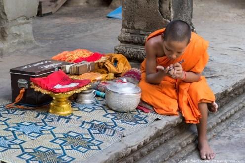 cambodia angkor young monk