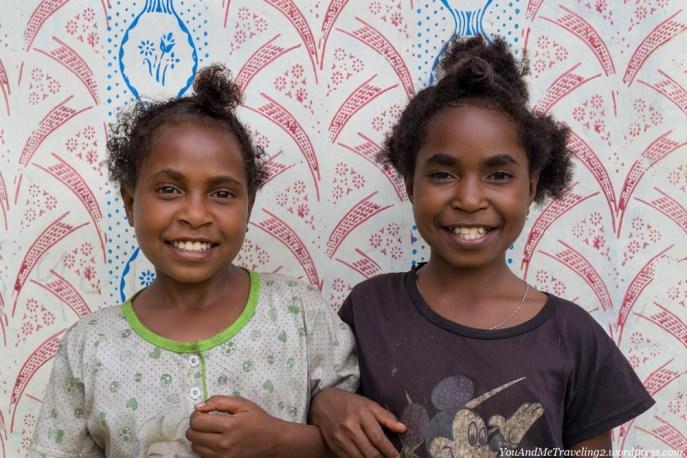 papua indonesia arfak mountains kwau village girls