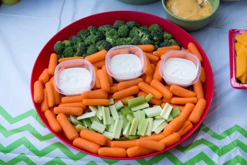 Vegetable platter: three-eyed monster